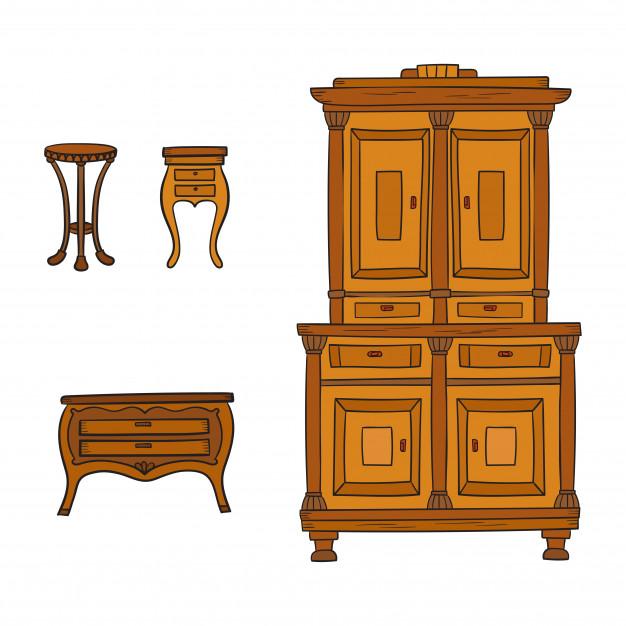 Mobile da sala in legno